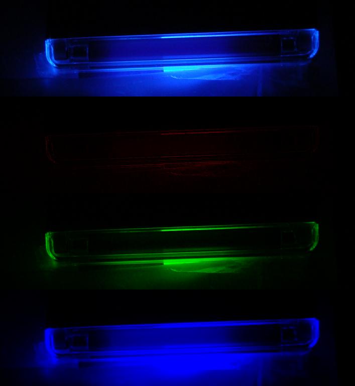 pôvodný obrázok + filtrovaný červený, zelený a modrý